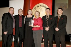 Ian, Todd, Dianne & Lorna Hardy - 2008 Local business awards Winning Outstanding Automotive Services