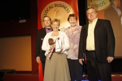 Todd, Lorna, Dianne & Ian Hardy - 2007 Local business awards Winning Outstanding Automotive Services